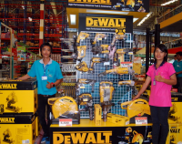 Buriram Dewalt Power Tools on display