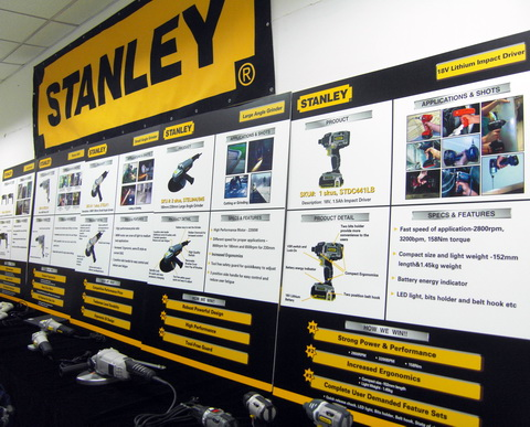Stanley Power Tools Roadshow Display'