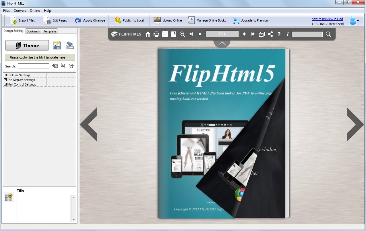 Flip Html5 Is Free Flip Book Maker Now Released To Create Online