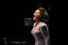 Award-winning Cristina Fontanelli on stage at Symphony Space'