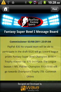 RTFS App Message Board