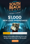South Beach Smoke $1,000 New Look Sweepstakes'
