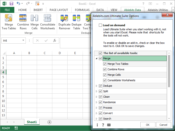 Ultimate Suite for Microsoft Excel