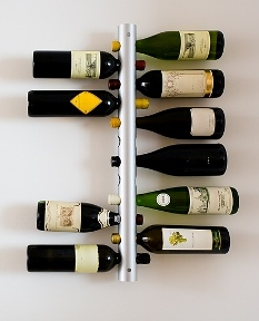 Display of collectible bottles'
