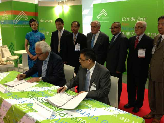 Signing Ceremony in Paris France, during Planete PME 2012