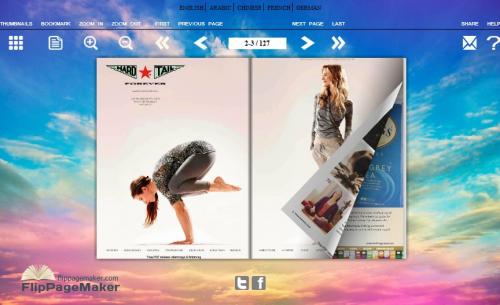 Flash flip eBook created by flip book maker'