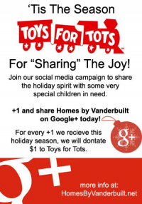 Homes by Vanderbuilt and Toys for Tots