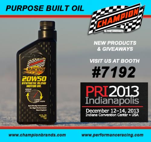 Champion Racing Oil at PRI Show'