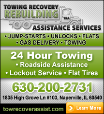 Towing Recovery Rebuilding Assistance Services Logo