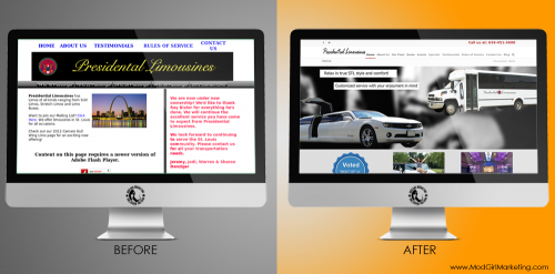 Before and After Website Design - Prez Limos'
