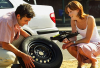 Naperville, IL Flat Tire Change'