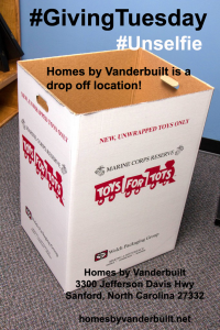Homes by Vanderbuilt Toys for Tots Dropoff