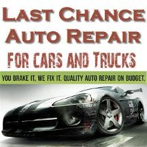 Last Chance Auto Repair For Cars Trucks Logo