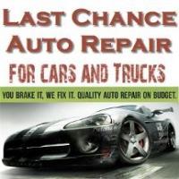Last Chance Auto Repair For Cars Trucks Logo