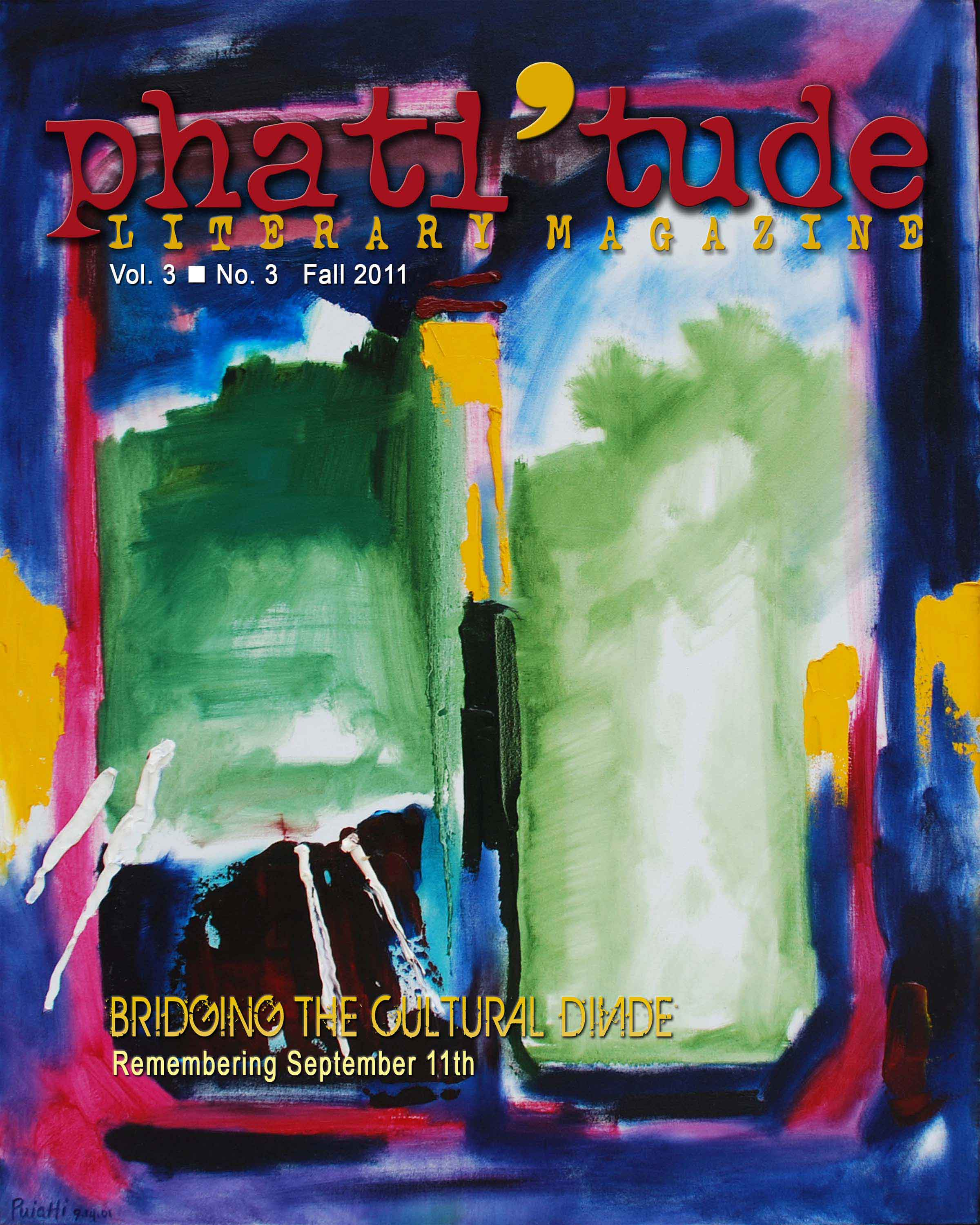 Cover of phati'tude Literary Magazine