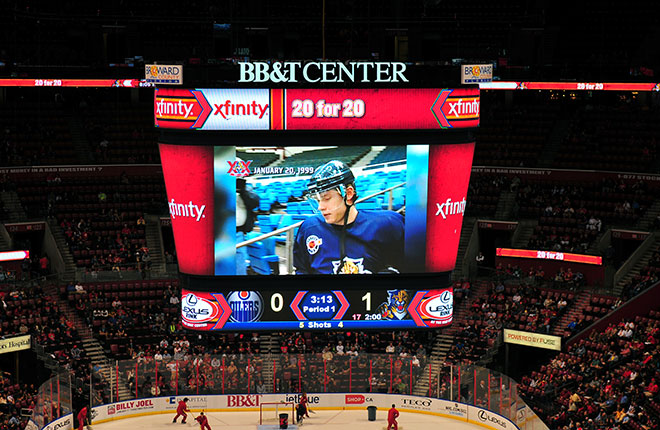 Lighthouse LED Display at BB&T Center