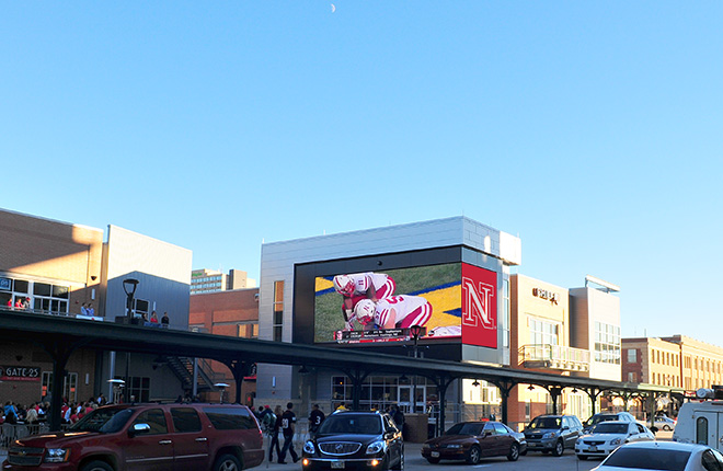 "Lighthouse LED Display ""The Cube"" at Lincoln's Rai"