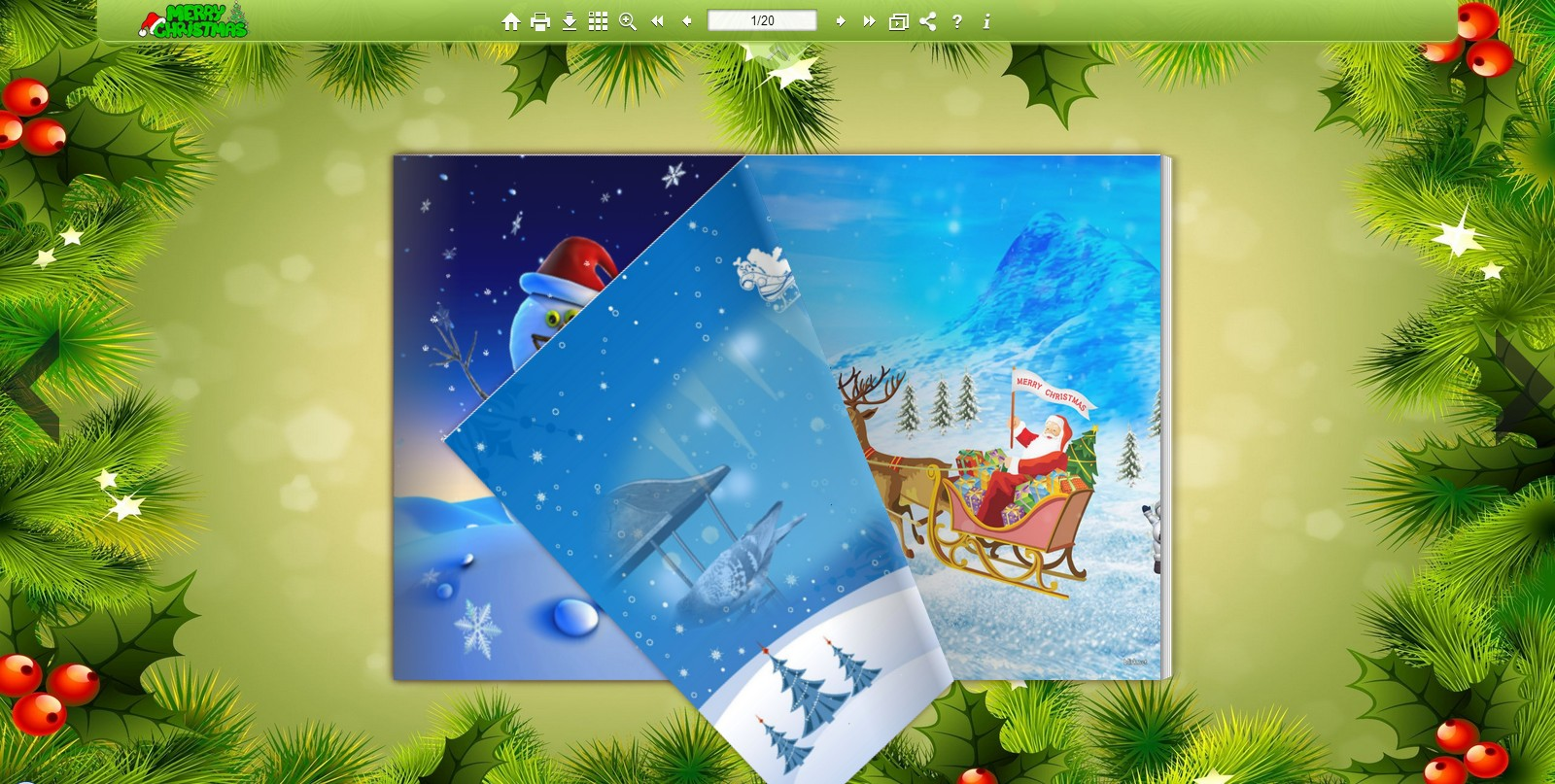 Page flip brochures in Christmas theme
