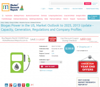 Biogas Power in the US, Market Outlook to 2025, 2013 Update