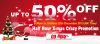 X-mas 50% off Promotion in wallbuys 12.25'