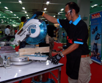 Makita Mitre Saw Demonstration Tool Expo