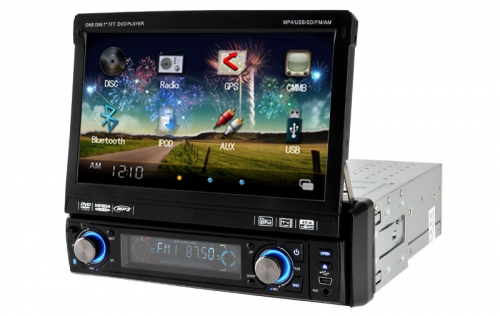 Somicar JS-7312, 7 inch 1 din car dvd player gps'