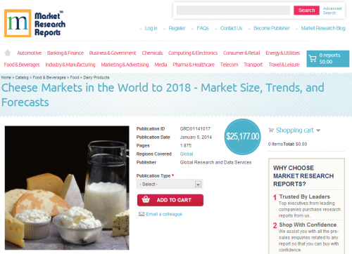 Cheese Markets in the World to 2018'