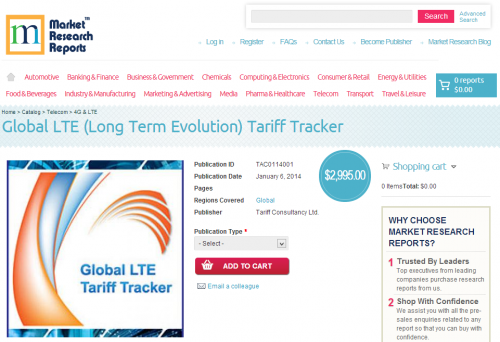Global Long Term Evolution Tariff Tracker'