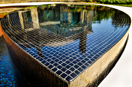 Custom Glass Tile swimming pool and Spa'