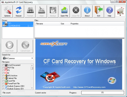 Compact Flash Card Recovery'