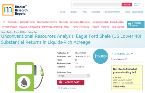 Unconventional Resources Analysis: Eagle Ford Shale'