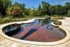 Luxury Glass Tile Inground Swimming Pool and Landscape Desig'