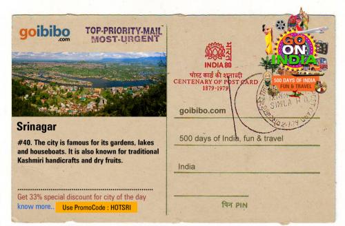 Goibibo.com has Fantastic Offers on Srinagar Hotel Bookings'