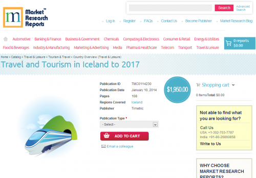 Travel and Tourism in Iceland to 2017'
