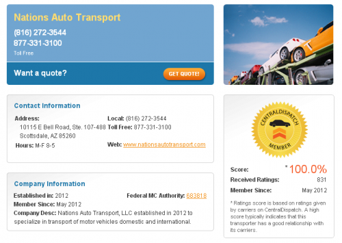 5 Star Rated Auto Transport Services'