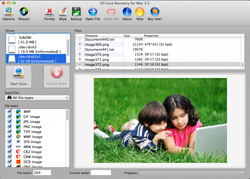 SD Card Recovery for Mac'