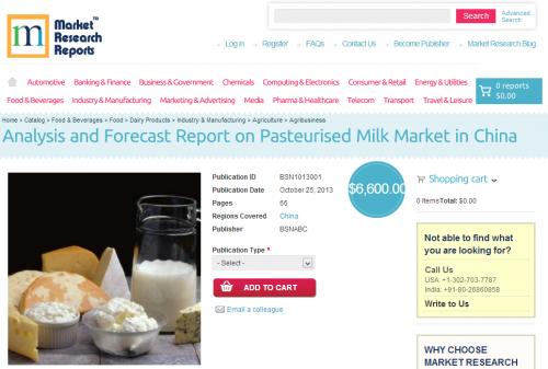 Analysis & Forecast Report on Pasteurised Milk Marke'