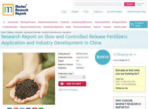Research Report on Slow and Controlled Release Fertilizers'