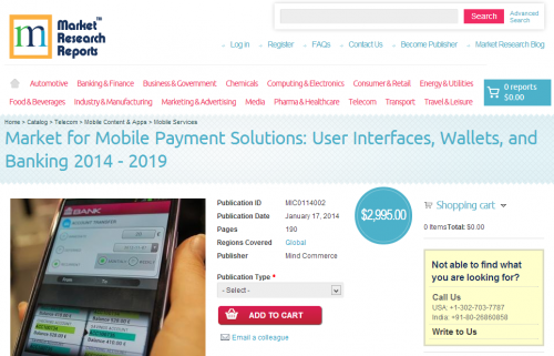 Market for Mobile Payment Solutions'