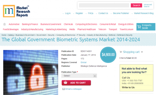 Global Government Biometric Systems Market 2014-2024'