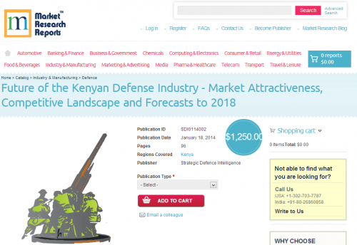 Future of the Kenyan Defense Industry to 2018'