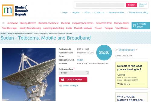Sudan - Telecoms, Mobile and Broadband'