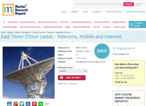 East Timor (Timor Leste) - Telecoms, Mobile and Internet'