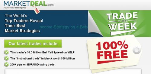 Market Deal FREE Trade Idea Of The Week'