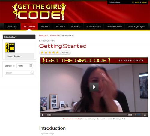 Get The Girl Code Members Area'