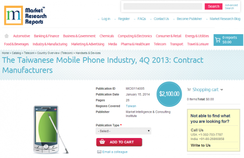 Taiwan Mobile Phone Industry 4Q 2013'