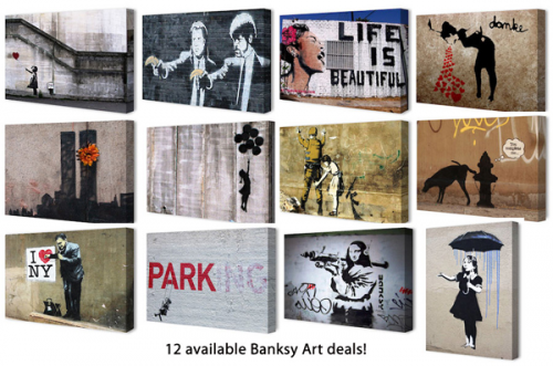 Banksy Controversial Canvas Artwork On Sale at Yugster Daily'