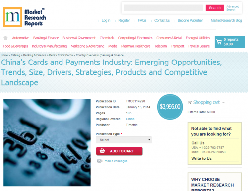 China's Cards and Payments Industry'