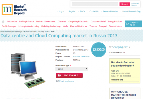 Data centre and cloud computing market in Russia 2013'