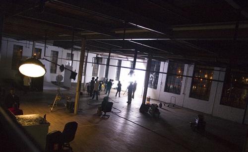 upper view of studio'